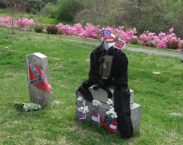 decorated grave