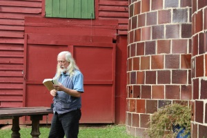 JDJ reads from Michael Rumaker at farm tour
